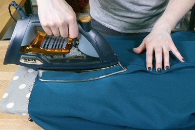 How to Make a Tablecloth - Iron seam open