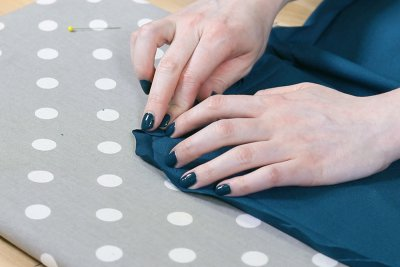 How to Make a Tablecloth - Fold in sides once