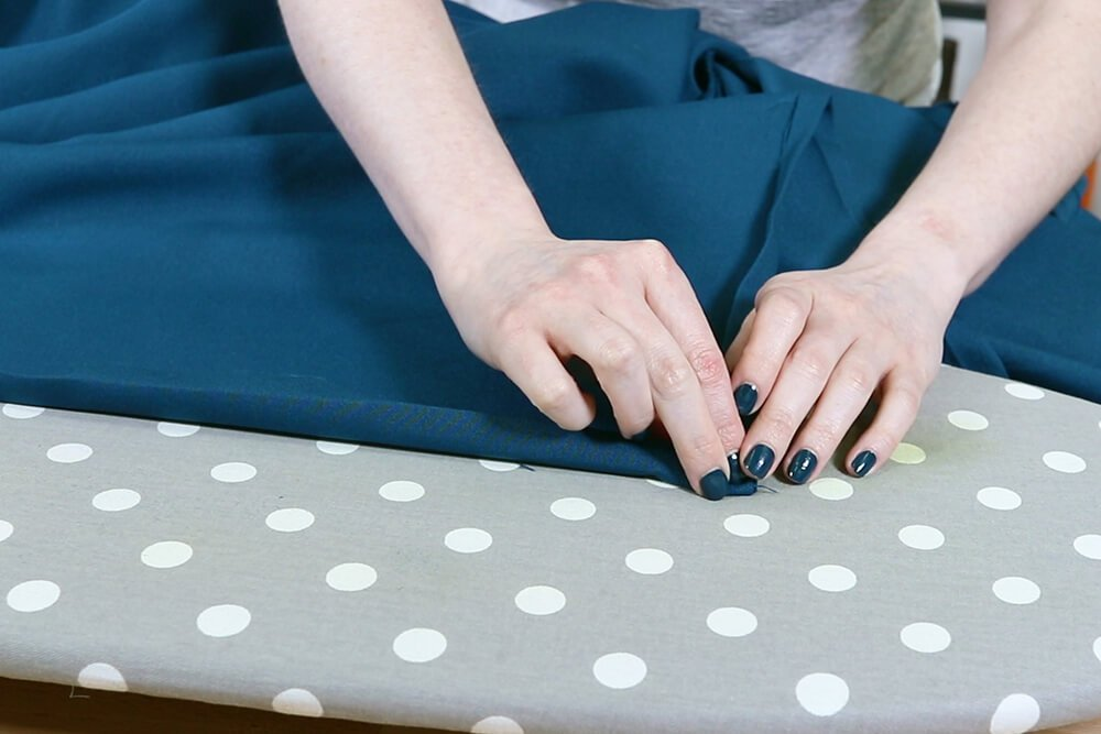How to Make a Tablecloth - Fold other side of corner