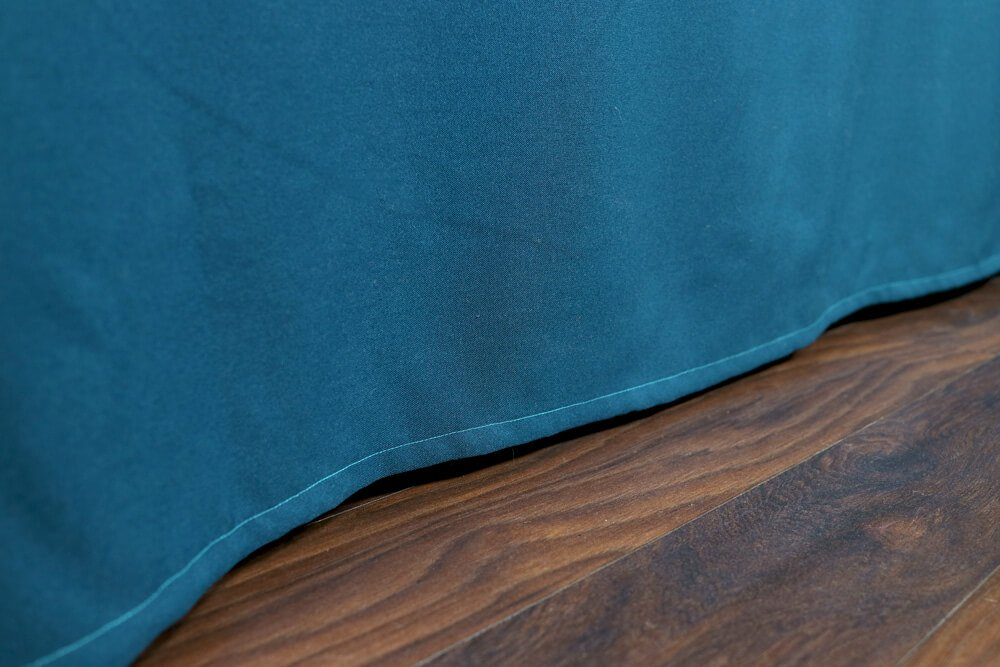 How To Make a Tablecloth - Finished hem