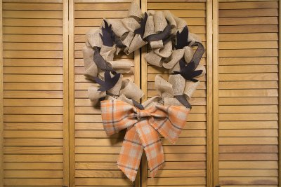 2 No Sew Burlap Wreaths - Gathered Wreath