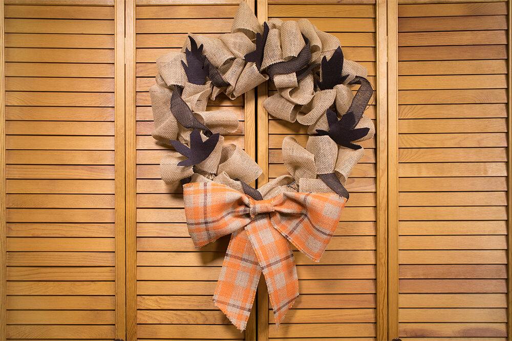 2 No Sew Burlap Wreaths - Gathered Wreath