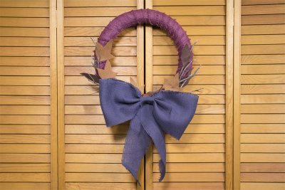 2 No Sew Burlap Wreaths - Wrapped Wreath