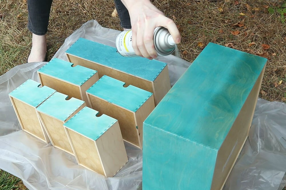 Staining Wood with Rit Dye - Apply a clear finish