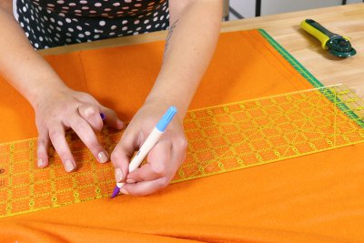 Hot To Make a Catnip Blanket - Step 2 - Measure and Cut Your Fabric and Velcro