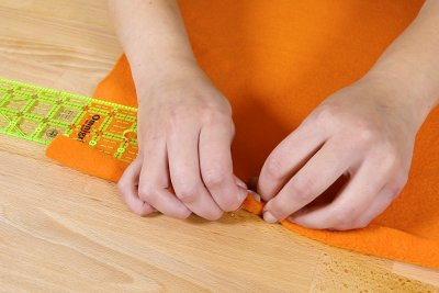 How To Make a Catnip Blanket - Step 3 - Sew On The Velcro