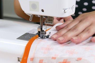 How To Make a Catnip Blanket - Step 4 - Sew the Blanket Together