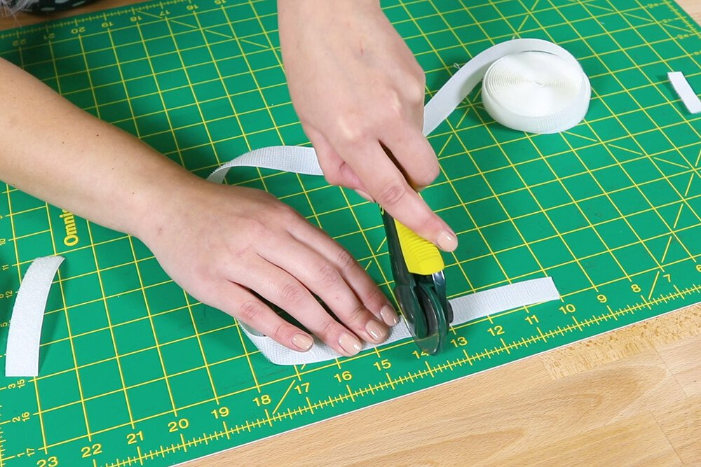 How To Make a Catnip Blanket - Step 2 - Measure and Cut Your Fabric and Velcro