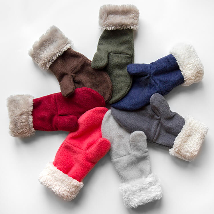 picture regarding Free Printable Fleece Sock Pattern referred to as How towards Crank out Fleece Mittens with Phony Fur OFS Companies Mill