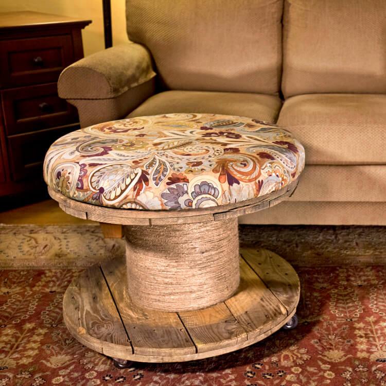 How to Make an Upholstered Spool Ottoman