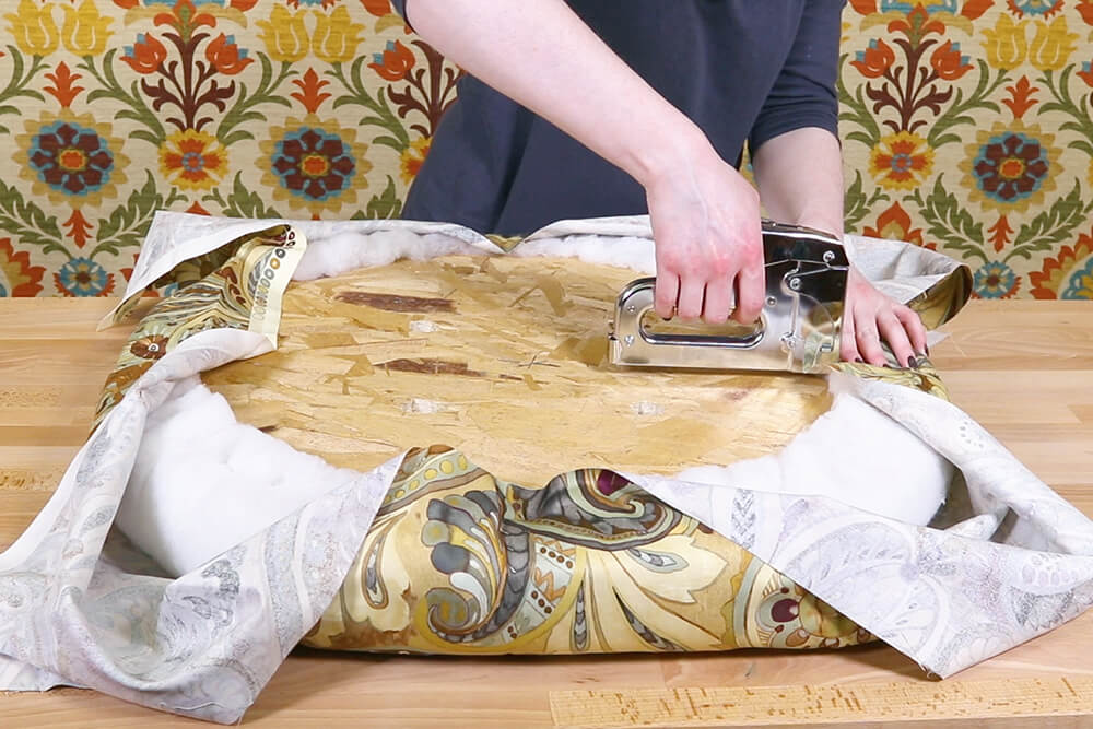 How to Make an Upholstered Spool Ottoman