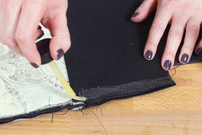 How to Make a Faux Leather Vinyl Handbag - Step 9