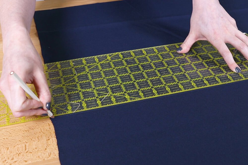 Step 1: Measure & cut the fabric