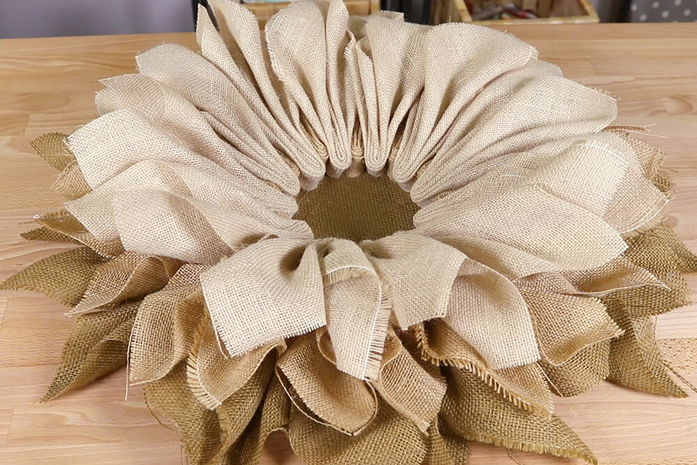 How to Make Burlap Flower Wreaths for Every Season - Step 3