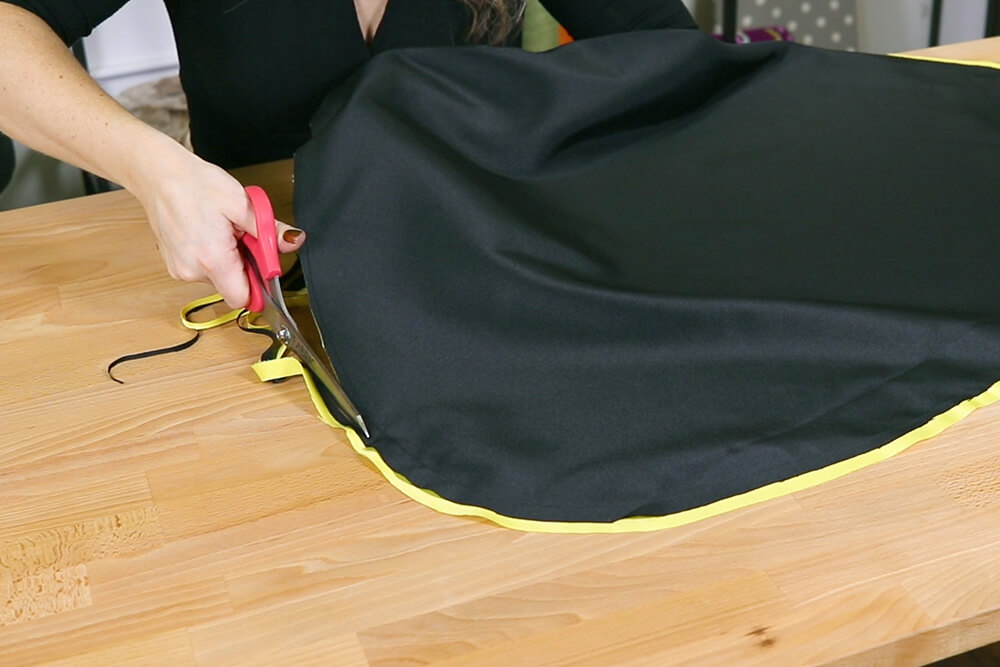 How to Make a Cape and Mask Set - Step 1