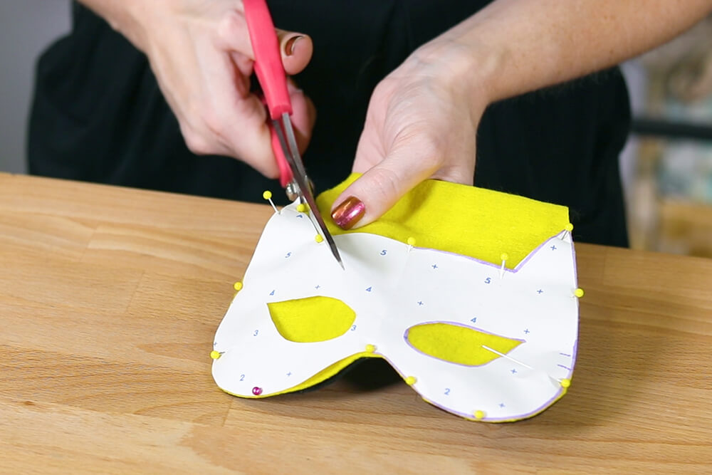 How to Make a Cape and Mask Set - Step 2