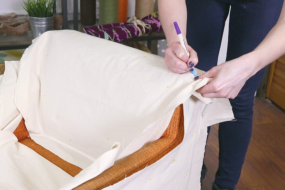 How to Make a Slipcover - Step 2