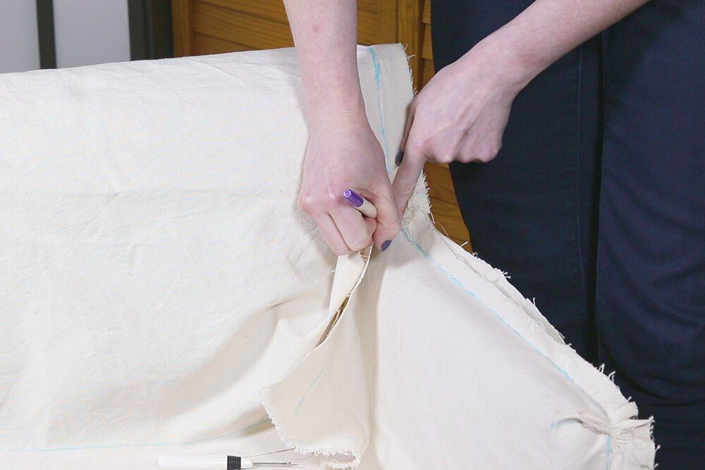 How to Make a Slipcover - Step 5
