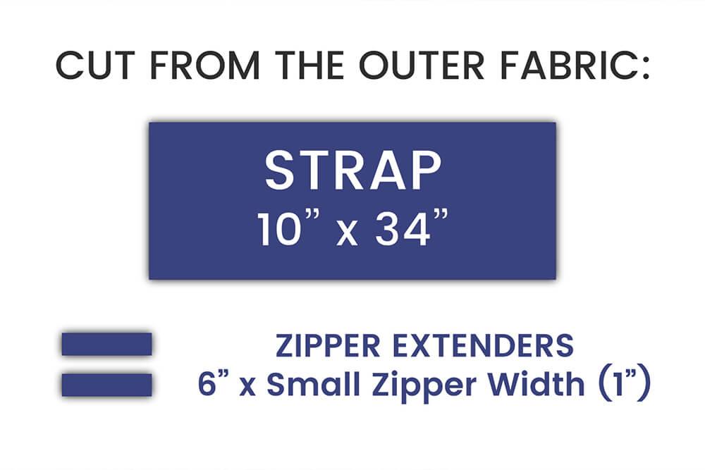 How to Make a Yoga Mat Bag - Step 1