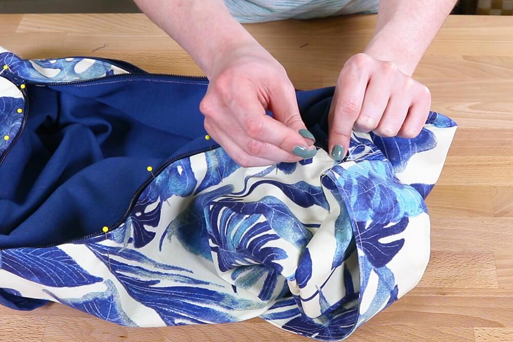 How to Make a Yoga Mat Bag - Step 5
