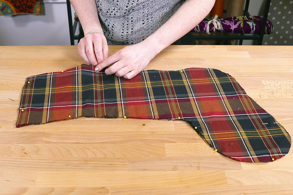 How to Make a Christmas Stocking with a Lining - Step 3