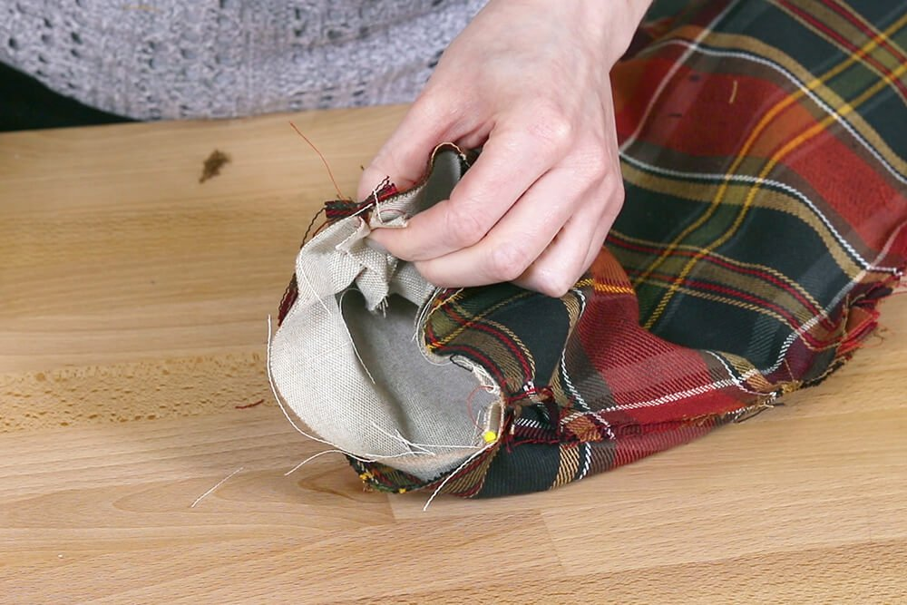How to Make a Christmas Stocking with a Lining - Step 4