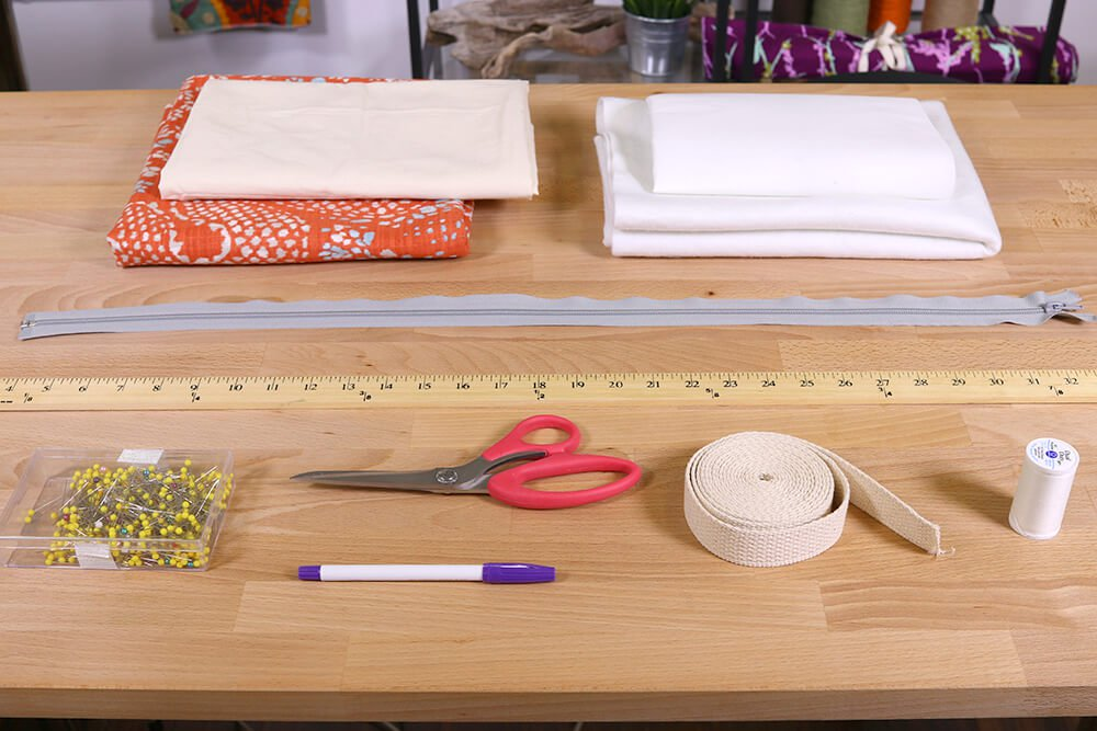How to Make a Tote Bag with a Recessed Zipper Materials