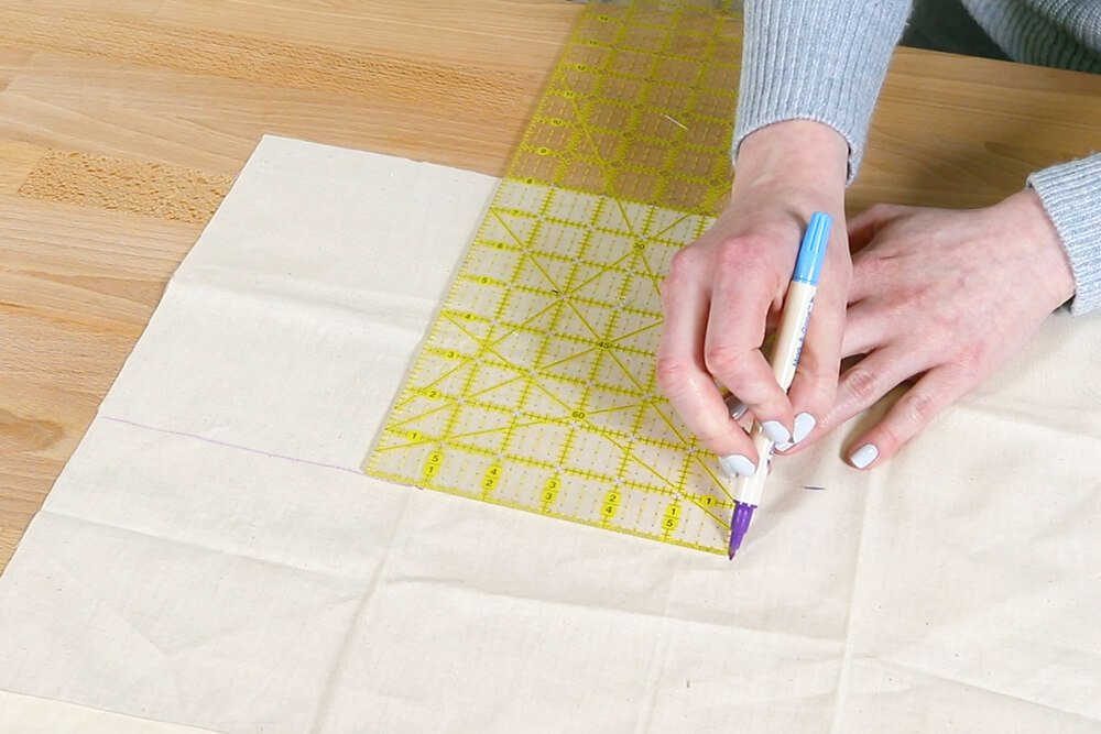 How to Make a Tote Bag with a Zipper - Step 1