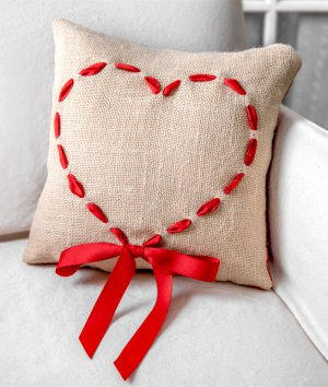 How to Make a Burlap Heart Pillow