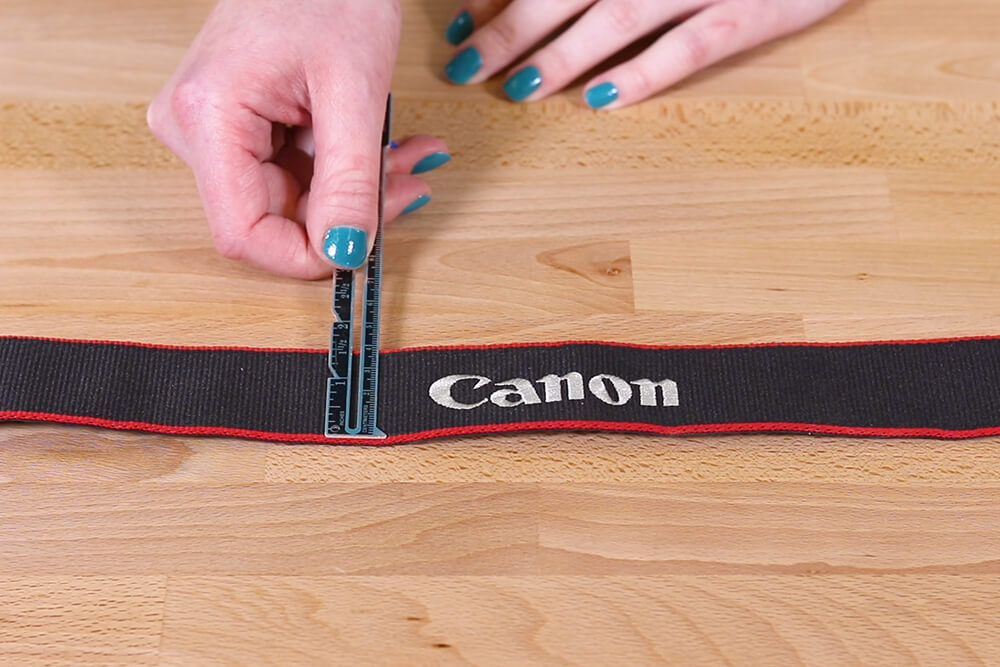 (Camera Strap) Step 1: Measure & cut the fabric
