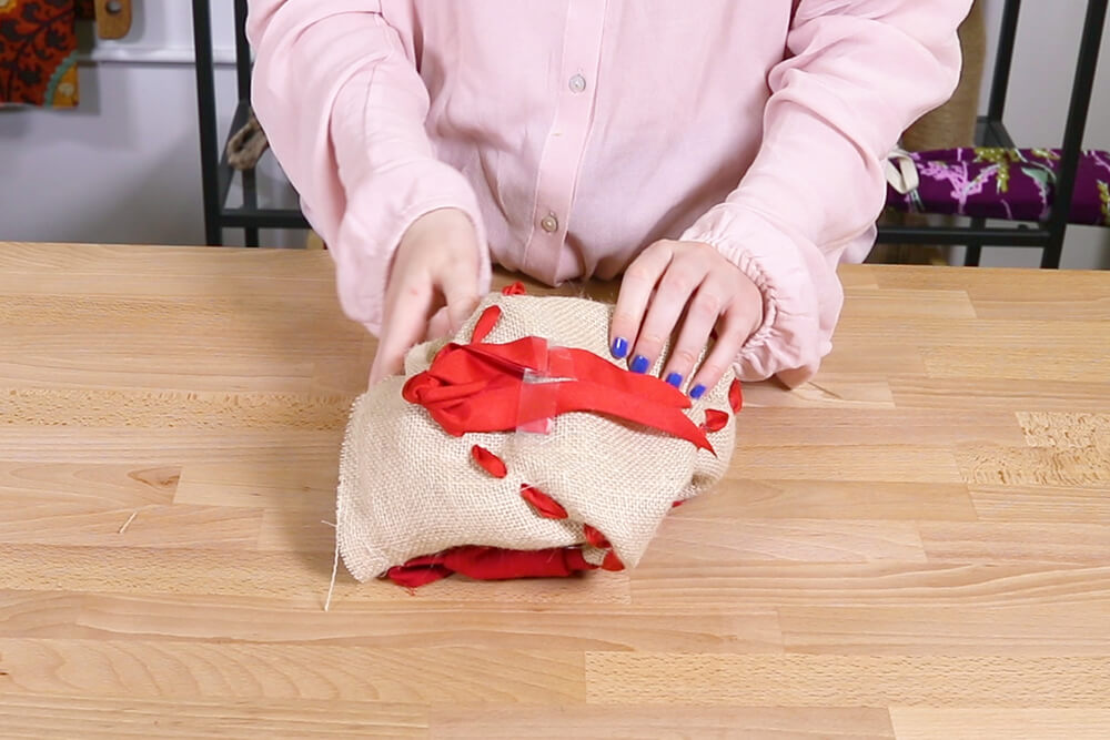 Flip the pillow inside out