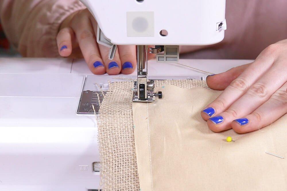 "Sew with 1/4"" seam allowance"