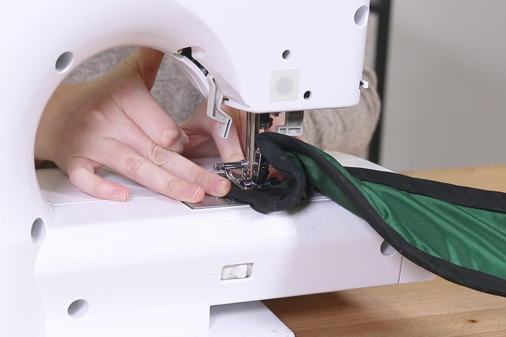 Finish sewing bias tape