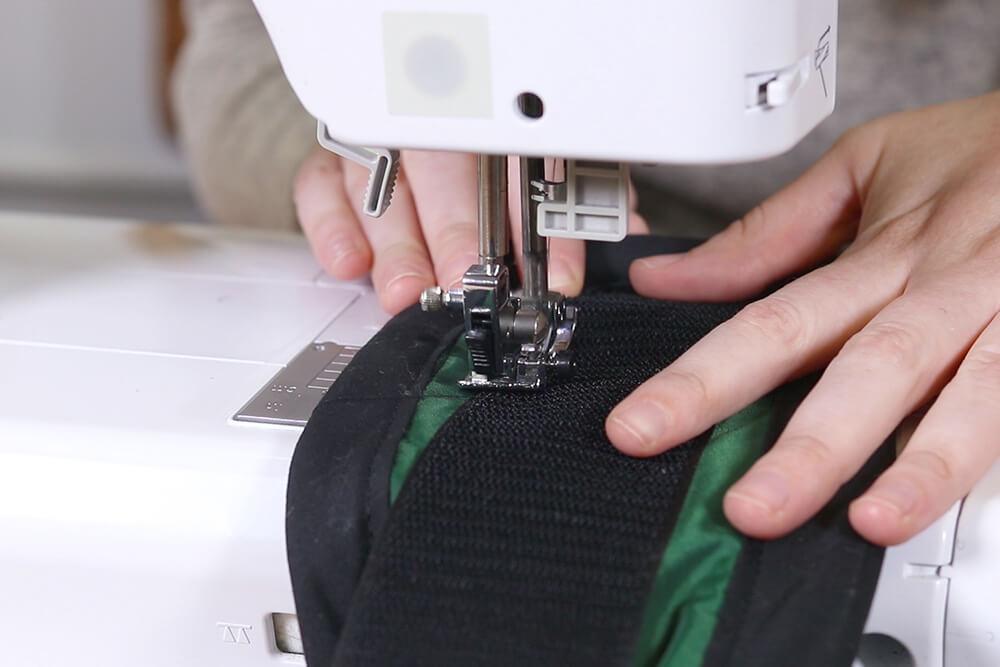 Sew the velcro