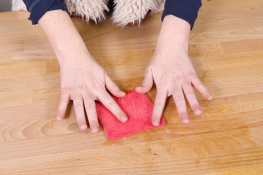 Fluff fleece with fingers