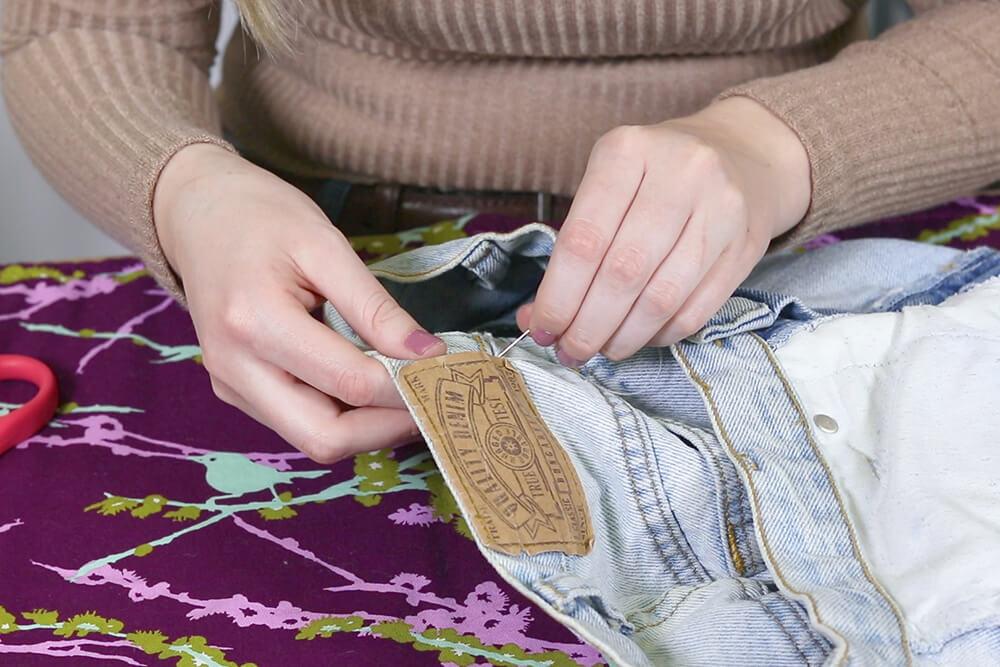Sew the loop to reinforce