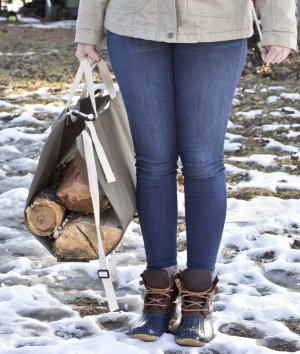 How to Make a Log Carrier Bag