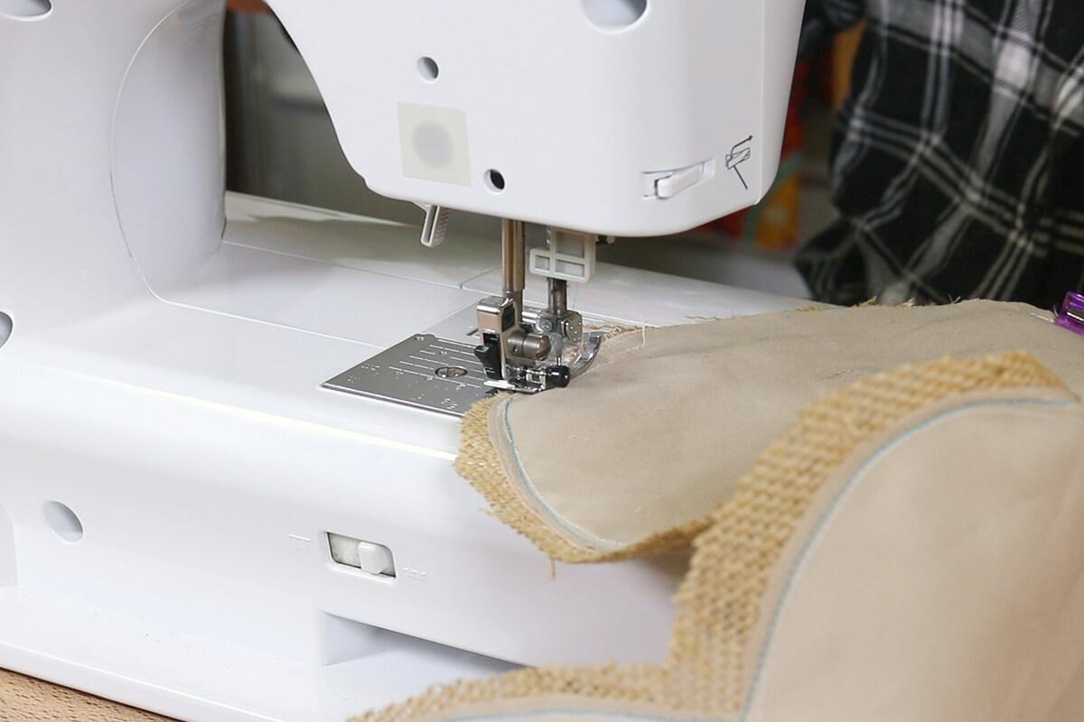 Sew together