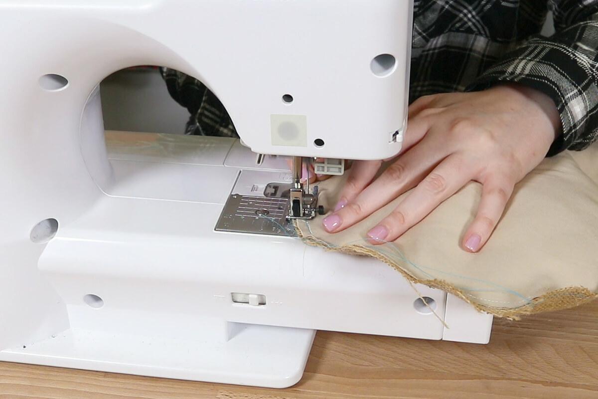Sew closed remaining edge