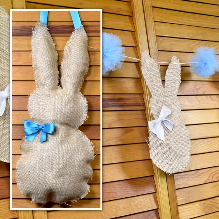 How to Make Burlap Easter Bunny Decorations