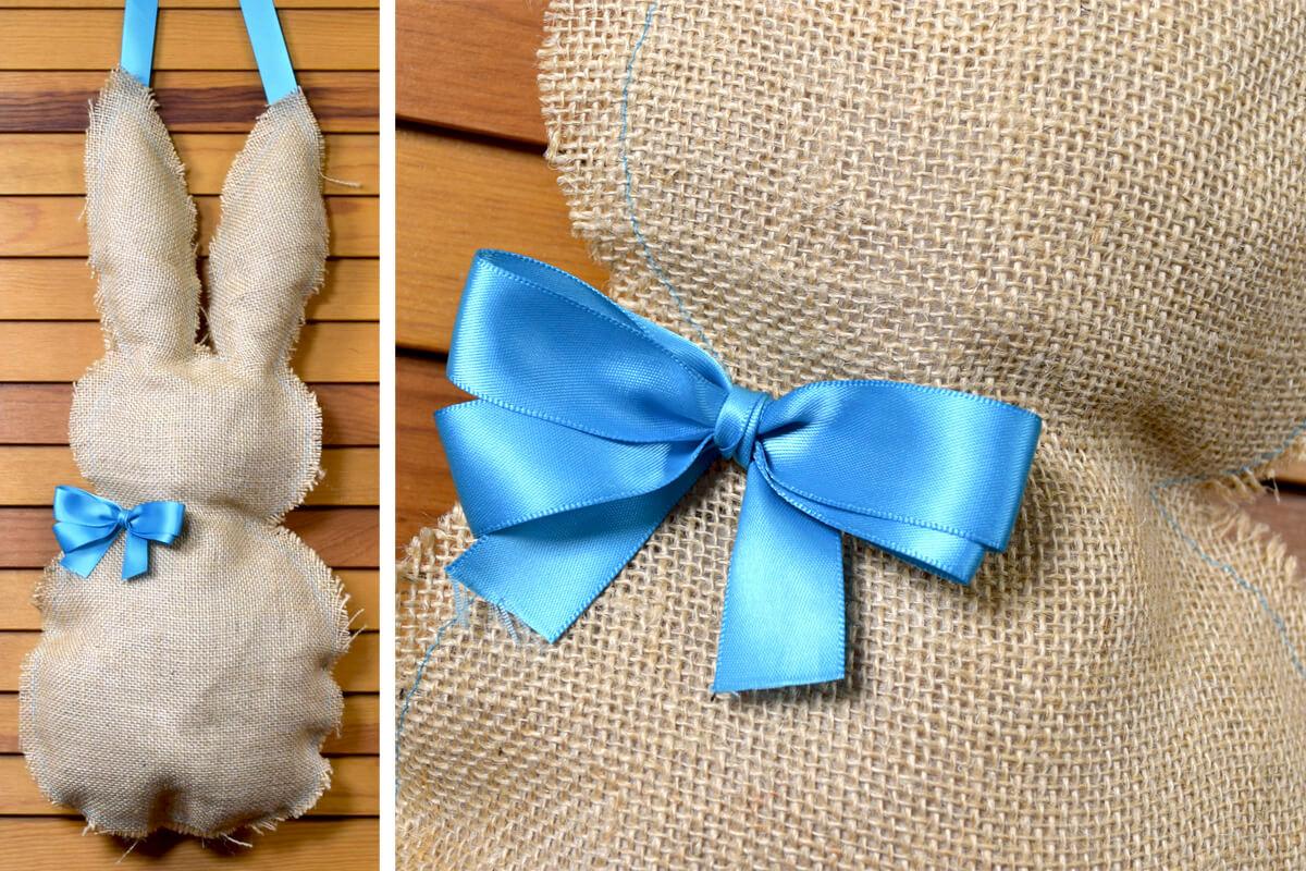 Finished Hanging Stuffed Bunny