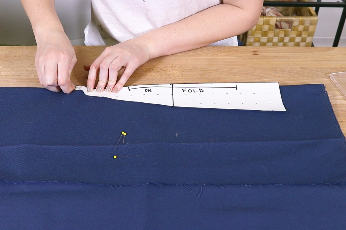 Cut out fabric using the template