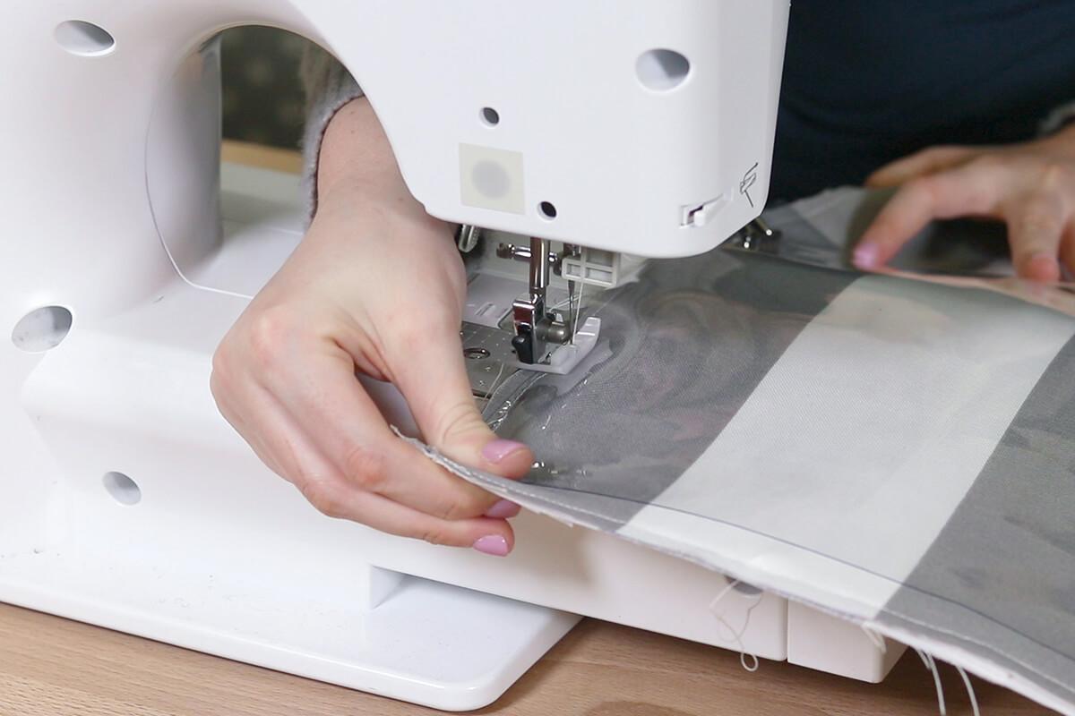 Sew down one edge