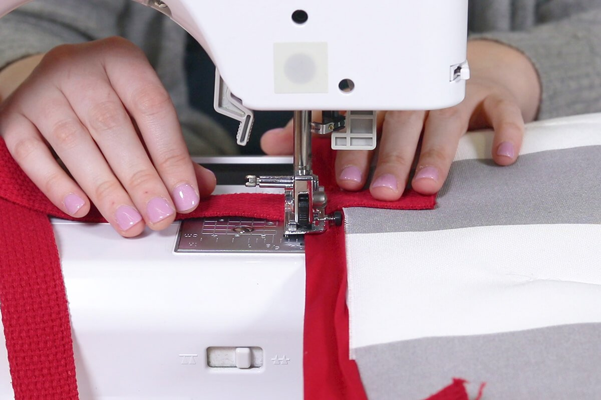 Sew at the top and bottom