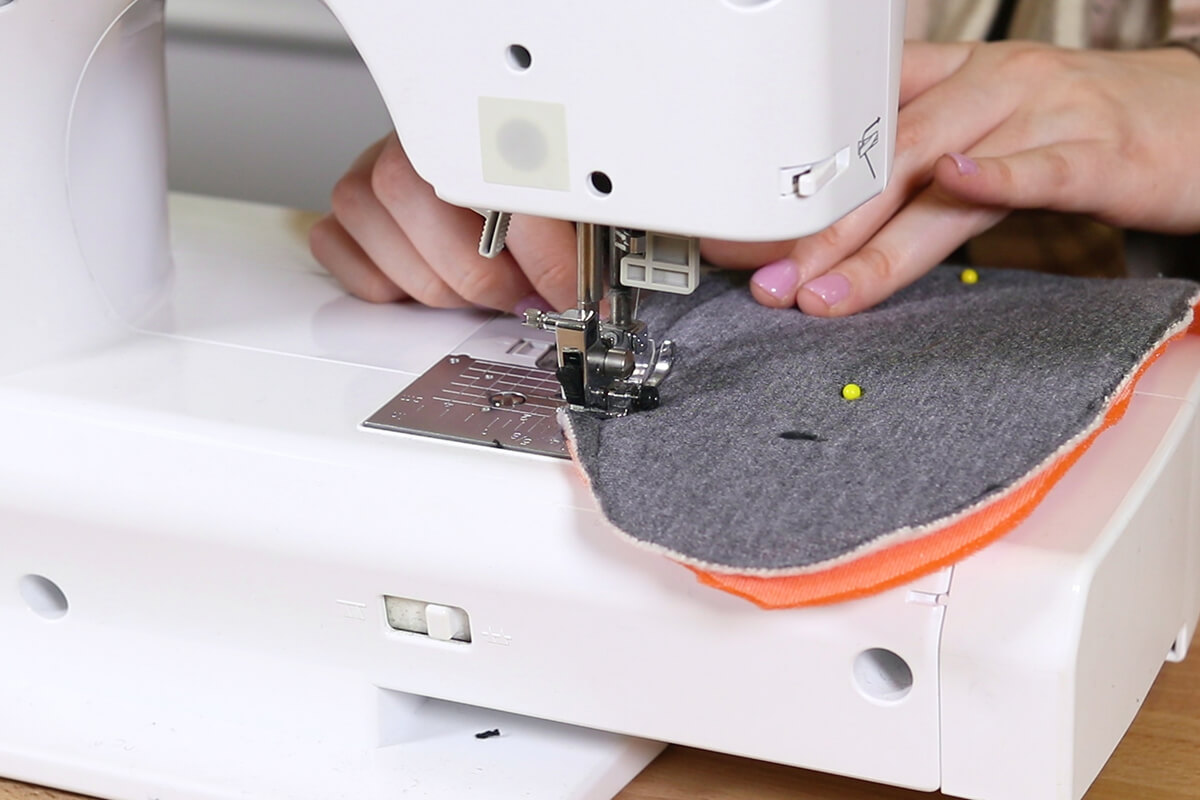 Sew the sew foam to the wrong side of the fleece
