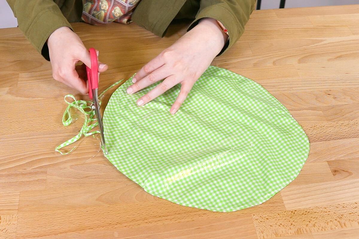 Cut off extra fabric