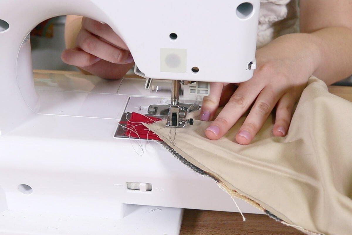 Sew down straps