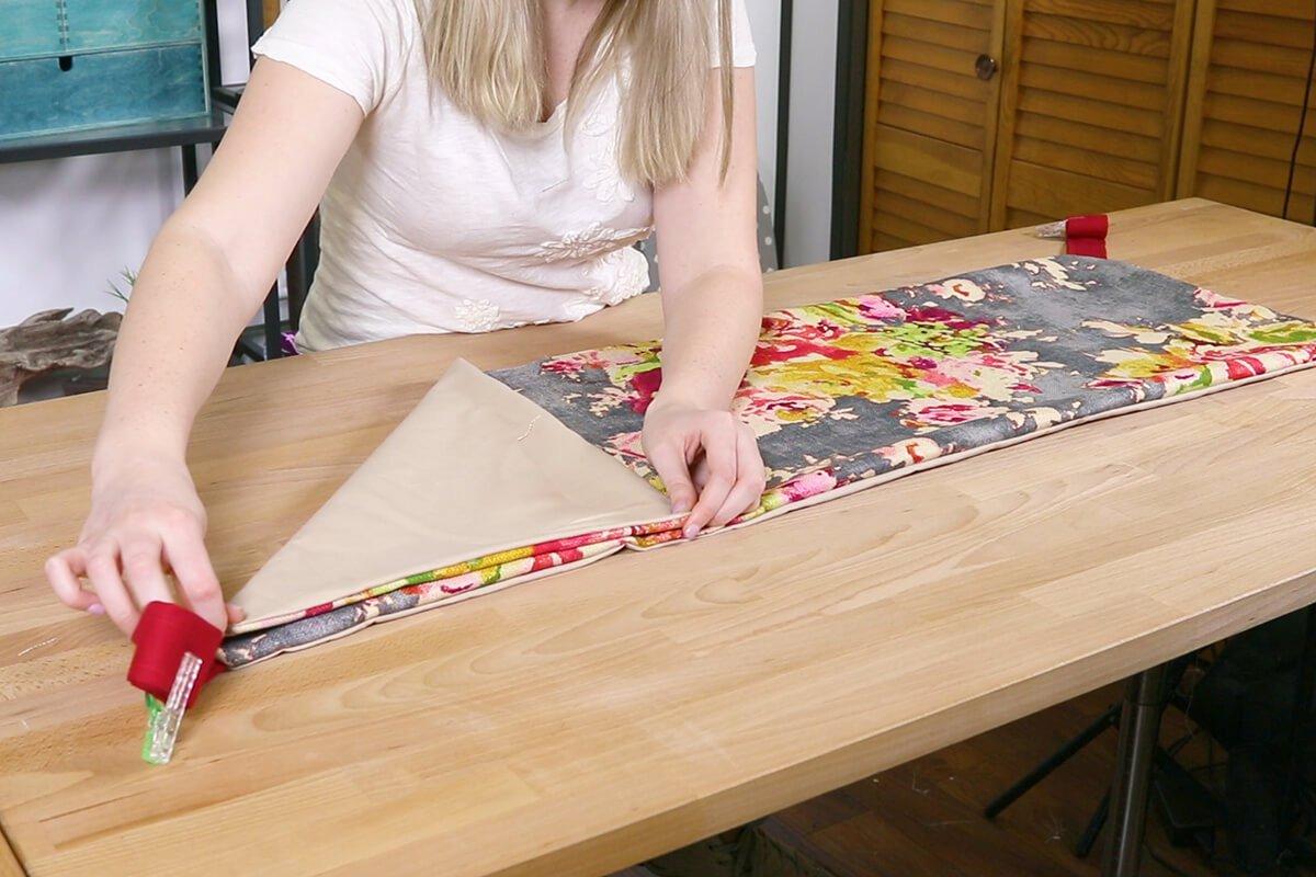 Fold 45 degree angles