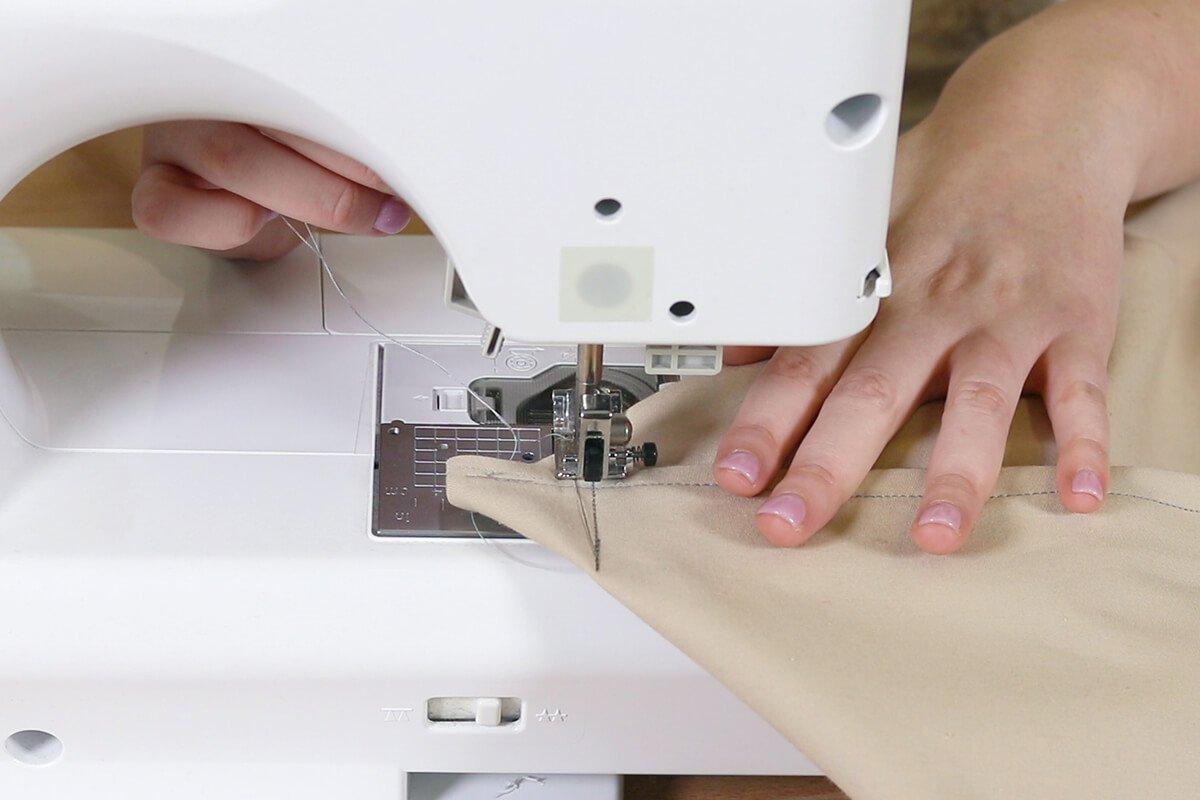 Sew and cut corners
