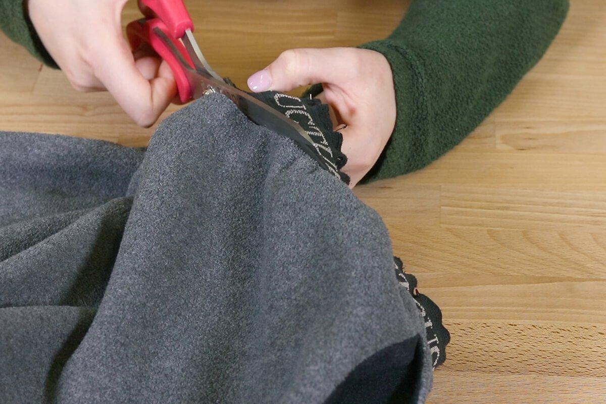 Cut away old elastic